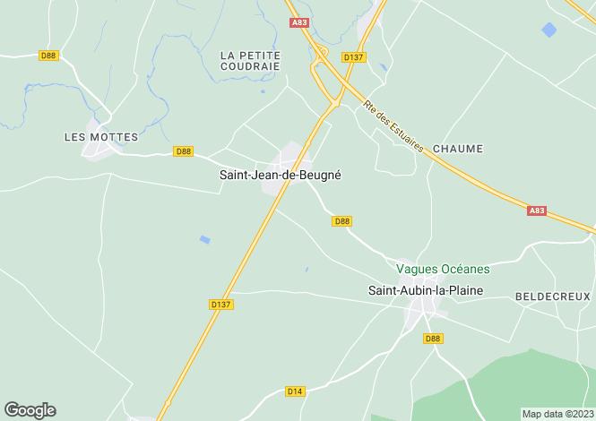 Map for Pays de la Loire, Vendée, St-Jean-de-Beugné