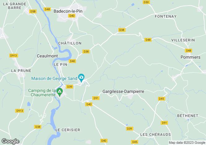 Map for Gargilesse-Dampierre, Indre, Centre