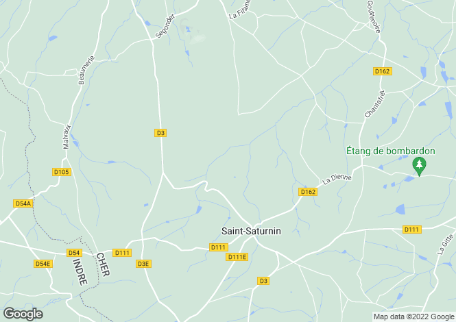 Map for st-saturnin, Cher, France