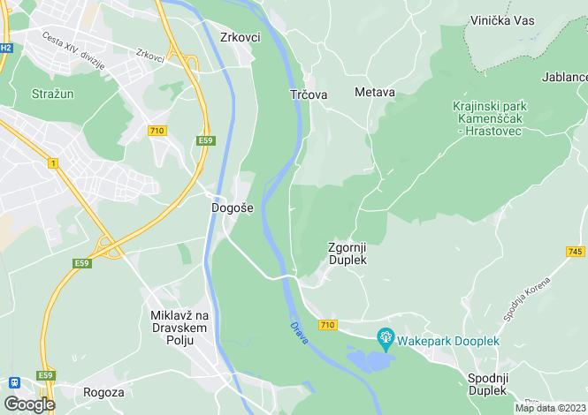Map for Maribor, Zgornji Duplek