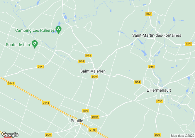 Map for Pays de la Loire, Vendée, St Valerien