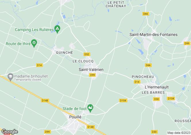 Map for ste-hermine, Vendée, France