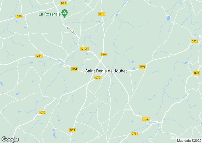 Map for Centre, Indre, St-Denis-de-Jouhet
