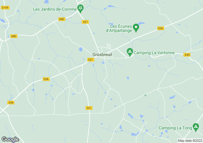 Map for grosbreuil, Vendée, France