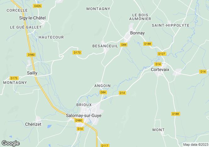 Map for Salornay-sur-Guye, Saône-et-Loire, Burgundy