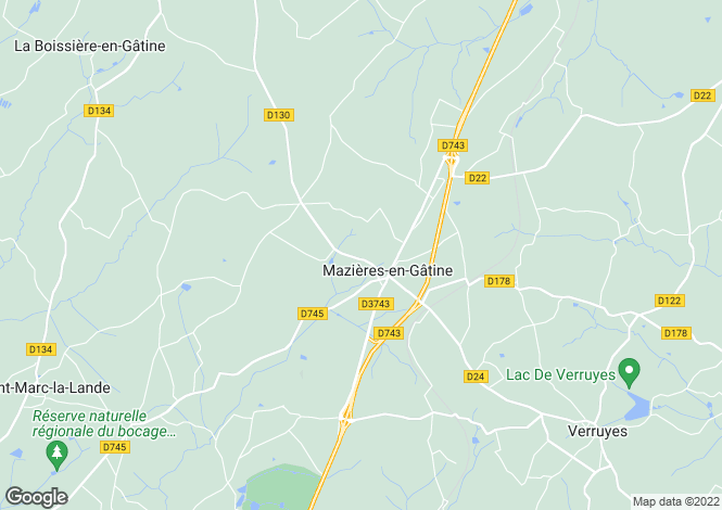 Map for mazieres-en-gatine, Deux-Sèvres, France