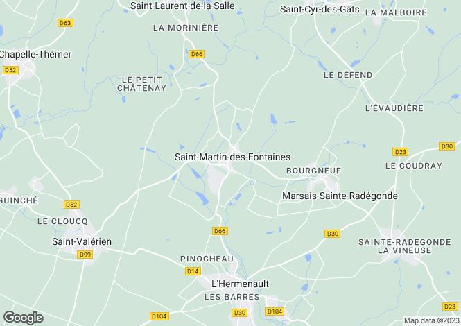 Map for Pays de la Loire, Vendée, St-Martin-des-Fontaines