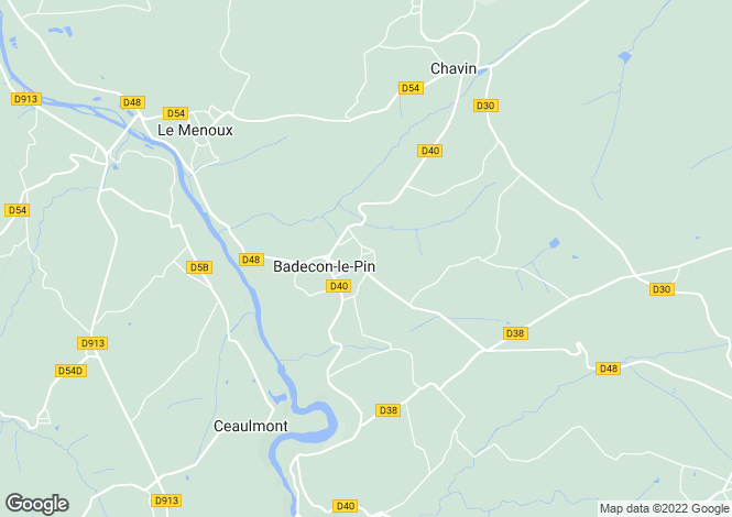 Map for Centre, Indre, Badecon-le-Pin