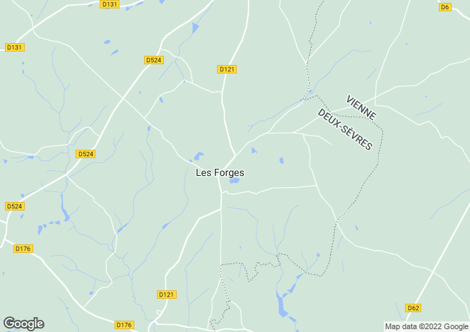 Map for Les Forges, Deux-Sèvres, 79340, France
