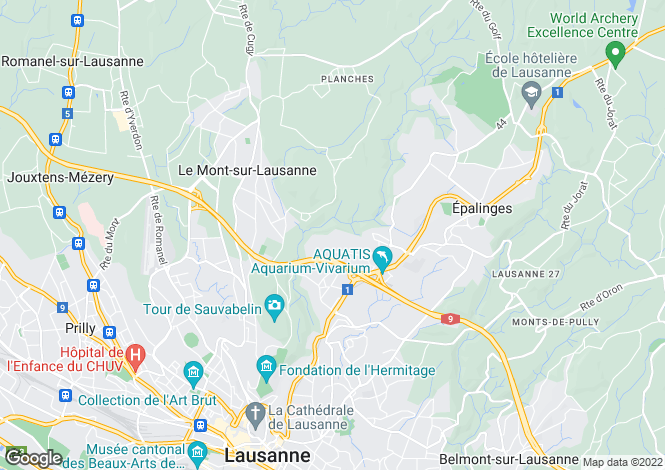 Map for LAUSANNE,