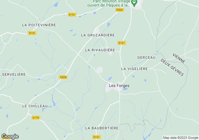 Map for Les Forges, Deux-Sèvres, 79340, France