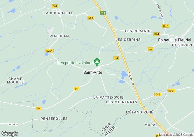 Map for st-vitte, Cher, France