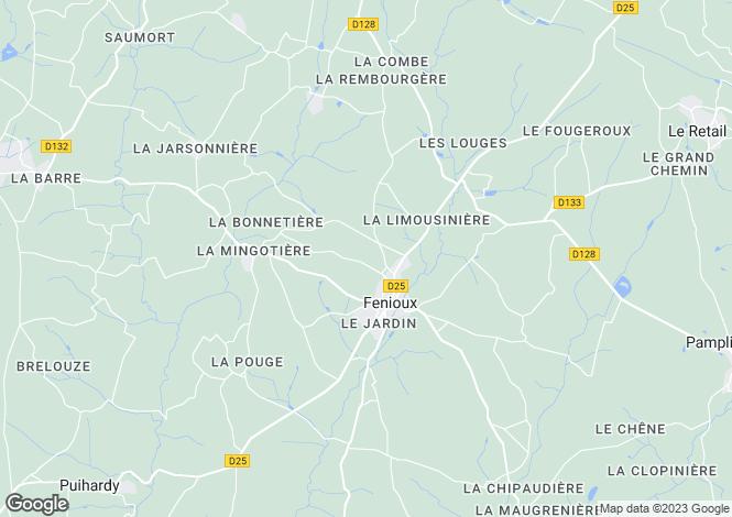 Map for fenioux, Deux-Sèvres, France