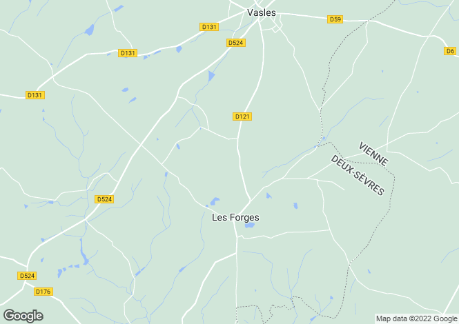 Map for les-forges, Deux-Sèvres, France