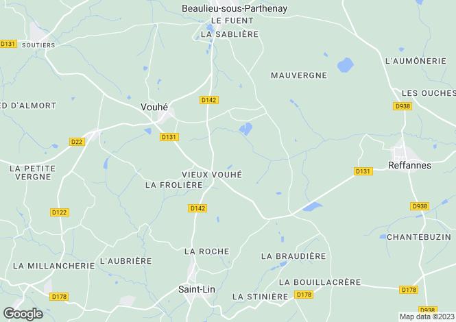 Map for vouhe, Deux-Sèvres, France