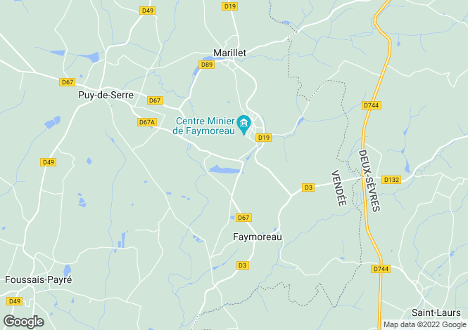 Map for faymoreau, Vendée, France