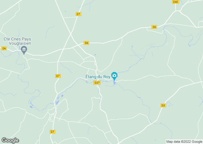 Map for montreuil-bonnin, Vienne, France