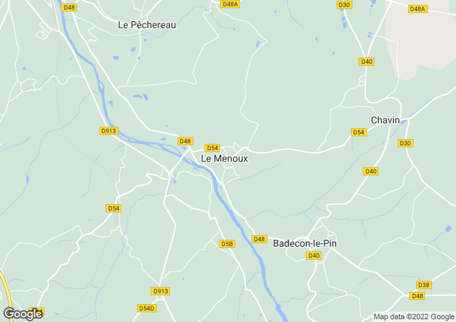 Map for le-menoux, Indre, France