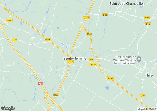 Map for Pays de la Loire, Vendée, Ste-Hermine