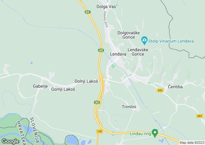 Map for Lendava, Lendava