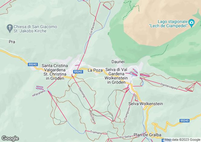 Map for Selva di Val Gardena