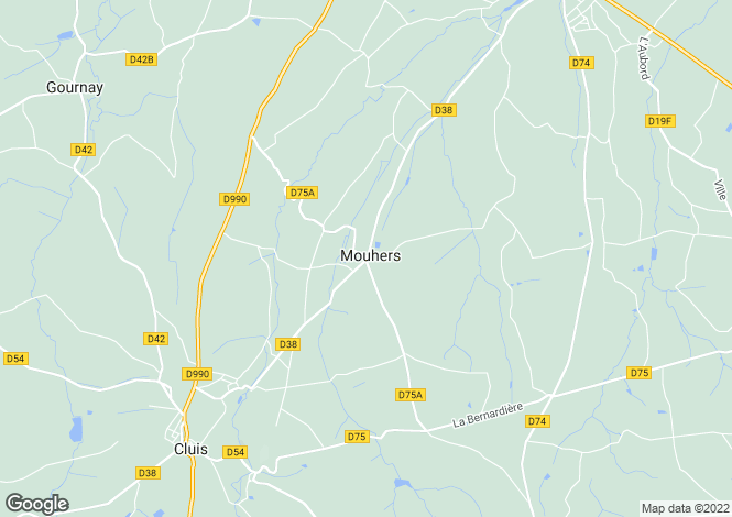 Map for mouhers, Indre, France