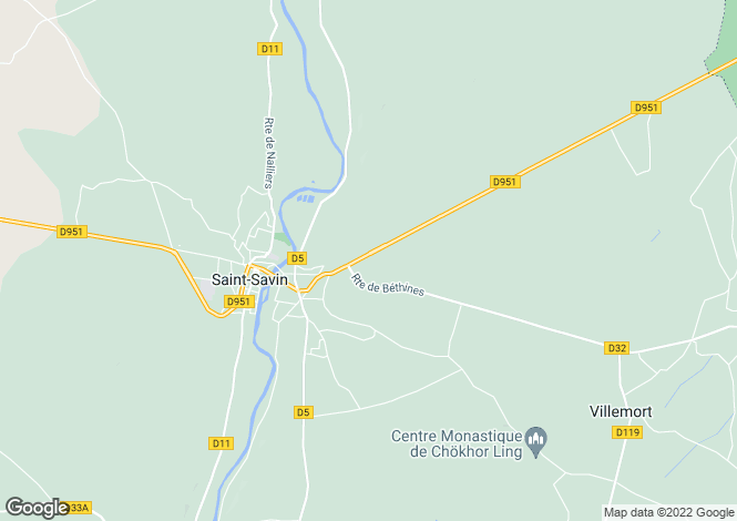 Map for st-germain, Vienne, France