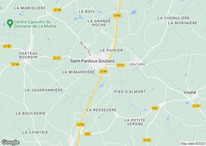 Map for st-pardoux, Deux-Sèvres, France