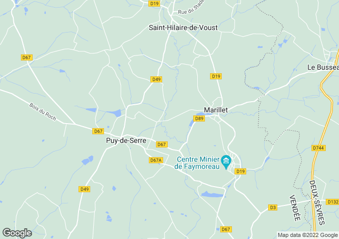 Map for marillet, Vendée, France