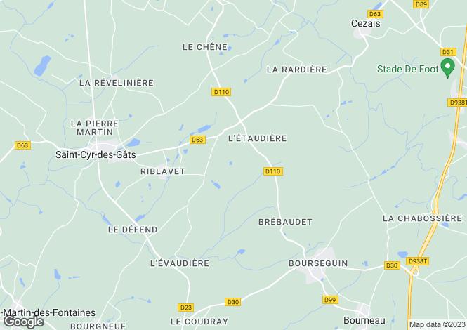 Map for St-Cyr-des-Gâts, Vendée, Pays de la Loire