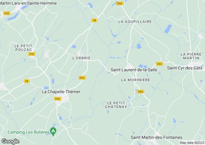 Map for la-chapelle-themer, Vendée, France