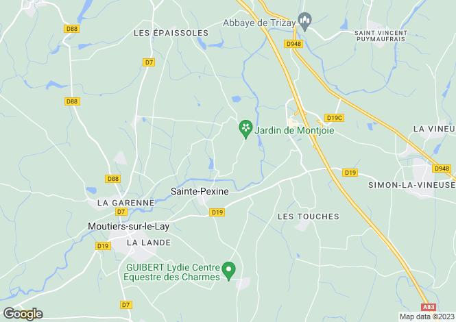 Map for ste-pexine, Vendée, France