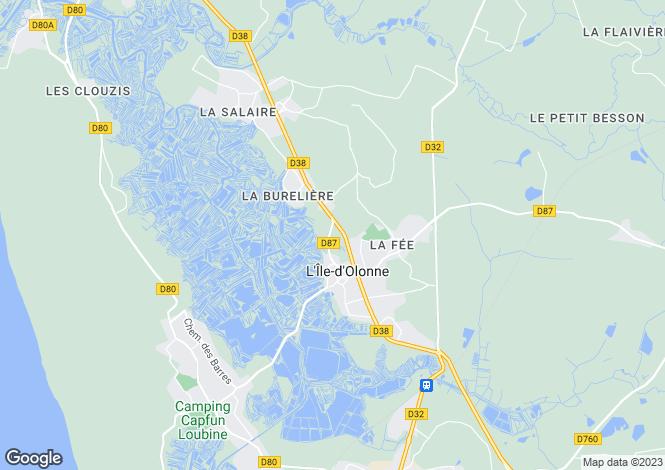 Map for Pays de la Loire, Vendée, L`Île-d`Olonne