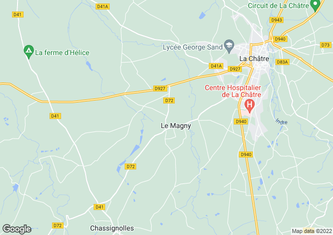 Map for Centre, Indre, Le Magny