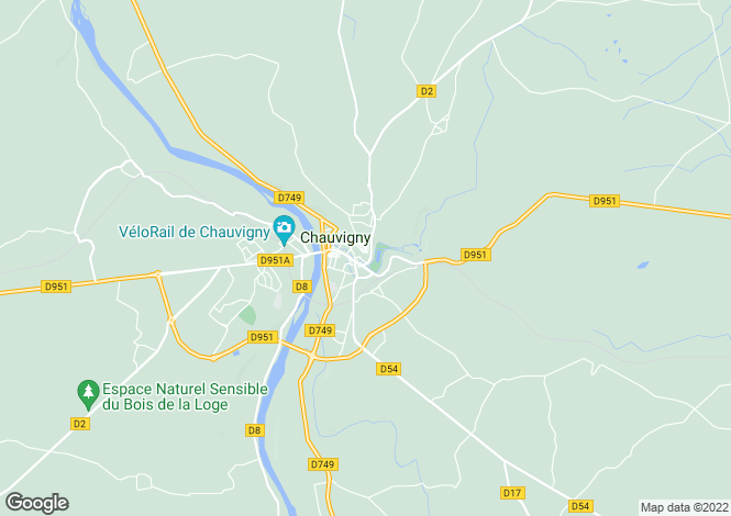Map for chauvigny, Vienne, France