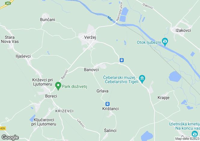 Map for Ljutomer, Ljutomer, Slovenia