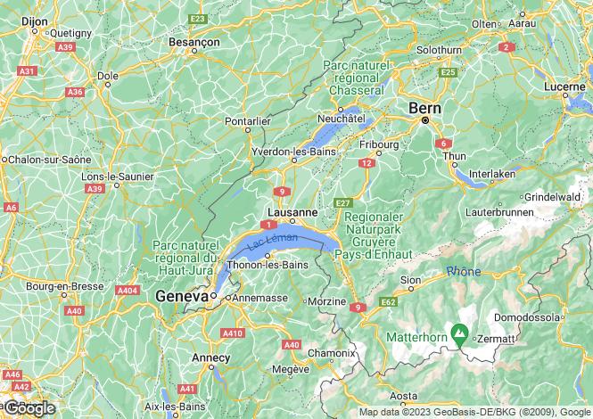 Map for Vaud, Vaud