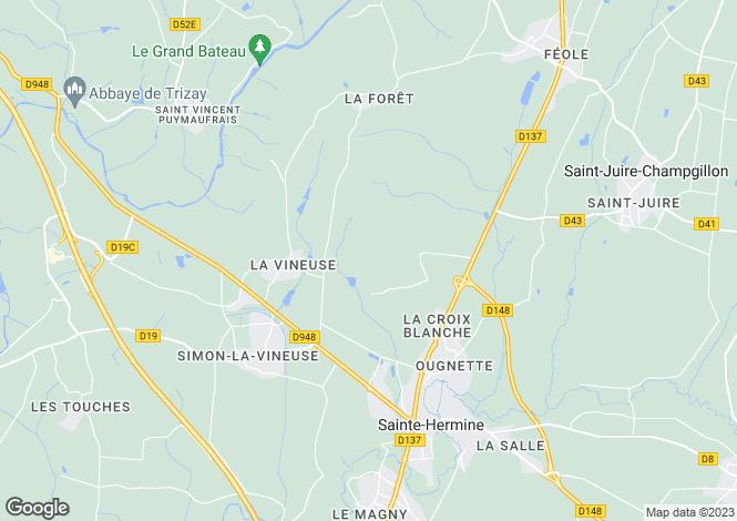 Map for Ste-Hermine, Vendée, Pays de la Loire