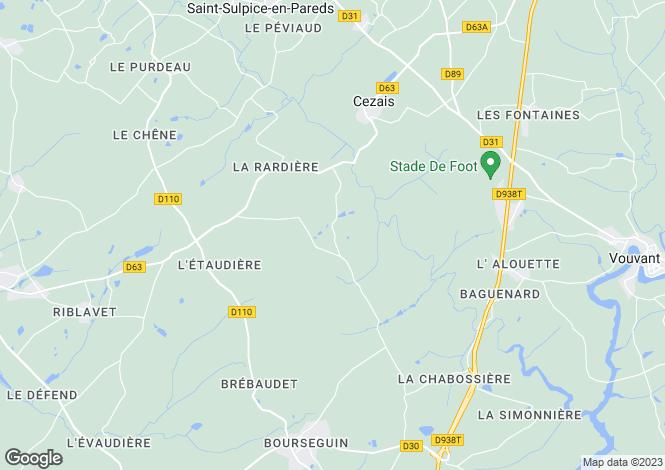 Map for Thouarsais-Bouildroux, Vendée, Pays de la Loire