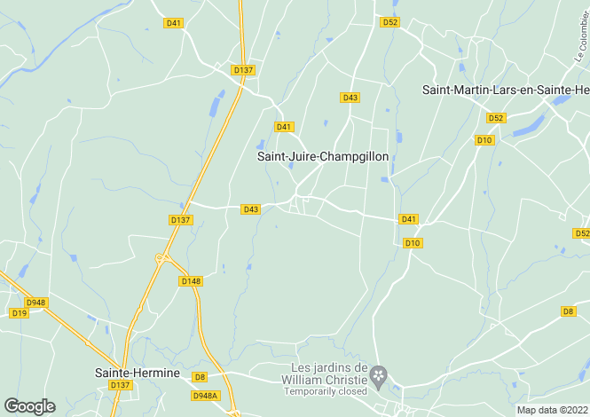 Map for st-juire-champgillon, Vendée, France