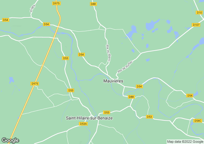 Map for mauvieres, Indre, France