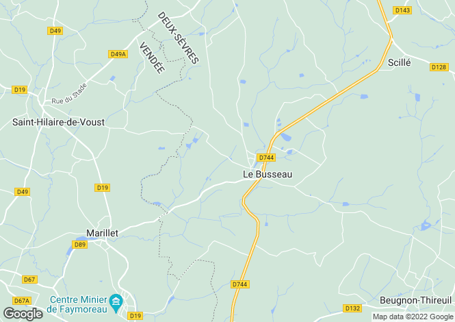 Map for le-busseau, Deux-Sèvres, France