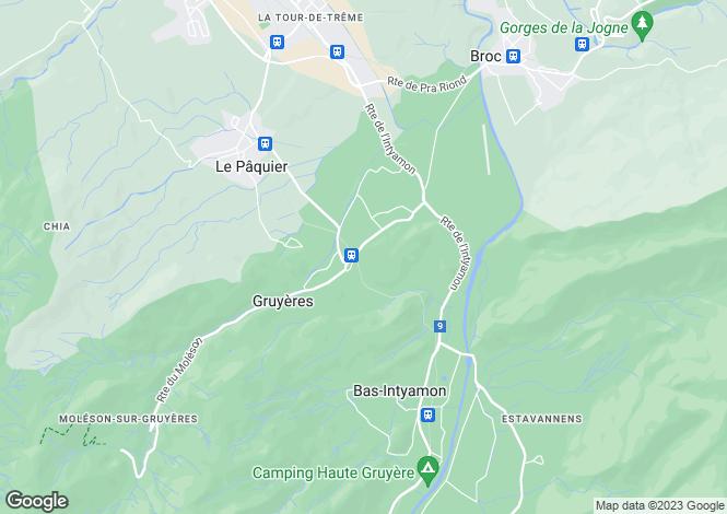 Map for Fribourg, Moléson-sur-gruyères