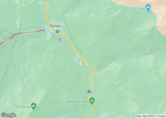 Map for Graubünden, Savognin