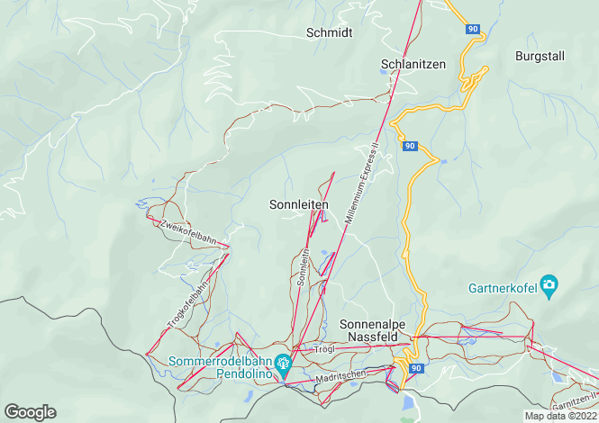 Map for Carinthia, Hermagor, Sonnenalpe Nassfeld