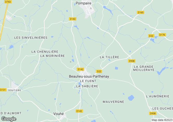 Map for beaulieu-sous-parthenay, Deux-Sèvres, France