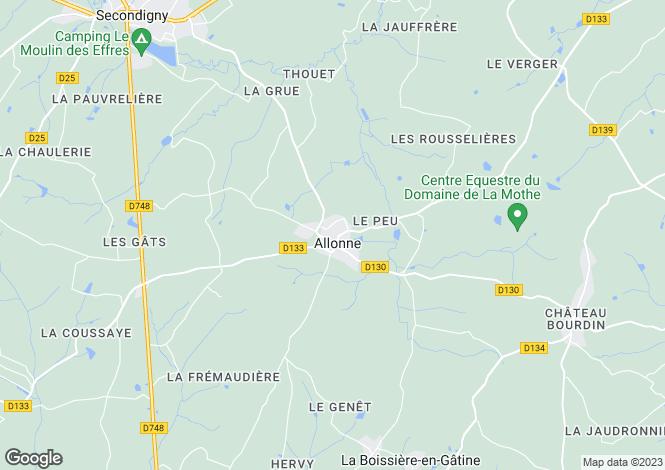 Map for 79130 ALLONNE, Deux-Sevres, France