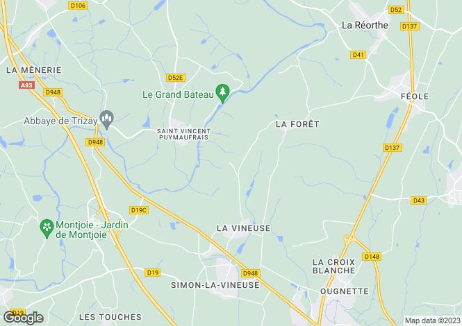 Map for Pays de la Loire, Vendée, St-Vincent-Puymaufrais