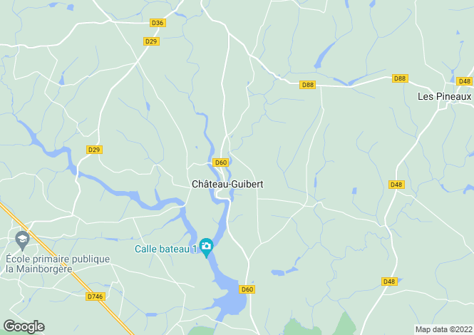 Map for chateau-guibert, Vendée, France