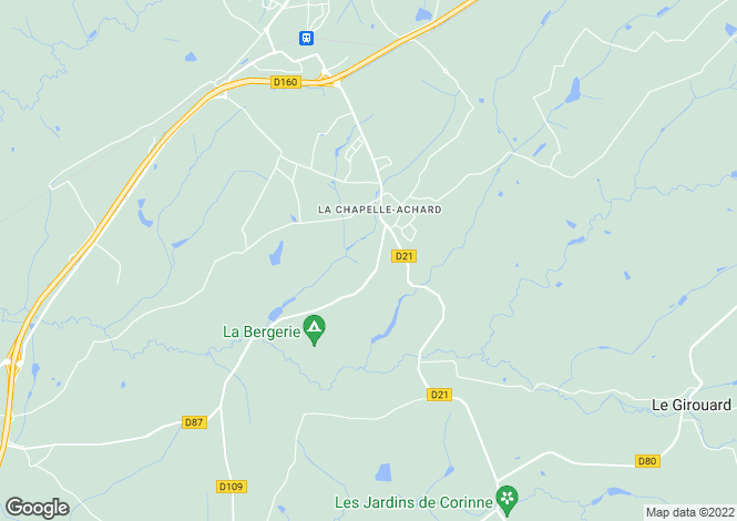 Map for la-chapelle-achard, Vendée, France